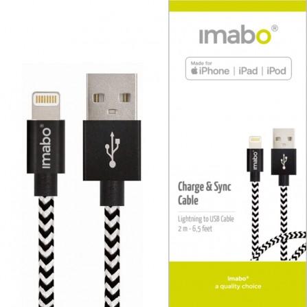 2m imabo® Lightning Ladekabel Kabel [Apple MFi zertifiziert] für iPhone SE 6 7 8 X XS XR Max Plus iPad iPod