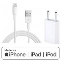 Set: Original Apple MD818ZM/A Kabel für iPhone, iPad, iPod + USB Netzteil Ladegerät