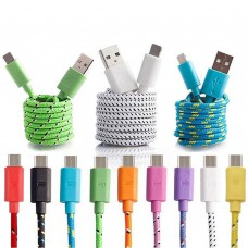 3 x 2m Nylon Micro USB Kabel Ladekabel Datenkabel USB 2.0