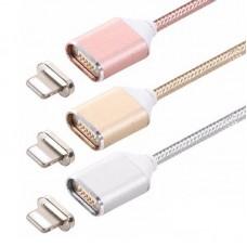 1m Nylon USB-C Typ C USB 2.0 Kabel Ladekabel Datenkabel Magnet Magnetkupplung