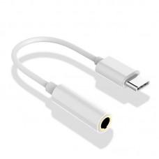 Audio Adapter USB-C auf 3,5 mm Klinke AUX Kopfhörer passend für Huawei Xiaomi uvm.