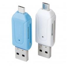 OTG Adapter USB Micro-B auf microSD SD SDHC T-Flash Cardreader Kartenleser