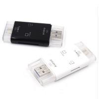 3in1 OTG Adapter: USB Typ C 3.1, USB Micro-B auf microSD SD T-Flash Kartenleser