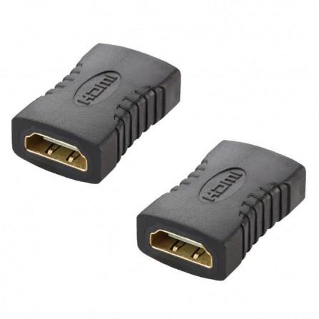 2 x HDMI Adapter Kupplung Buchse vergoldet female Verlängerung 2.0 Full HD 1080p