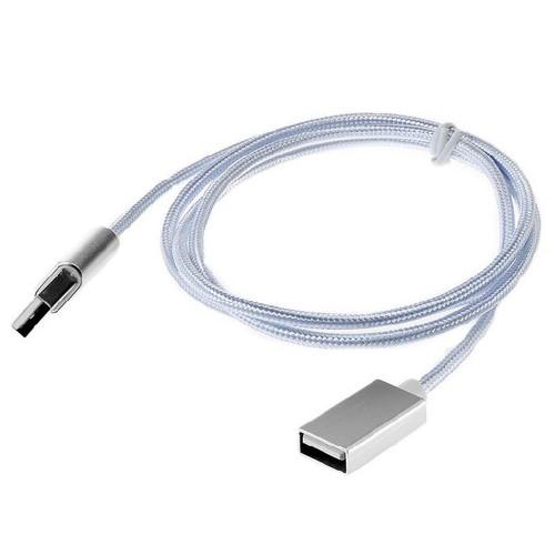 1m usb verl ngerungskabel datenkabel kabel usb a male auf female nylon. Black Bedroom Furniture Sets. Home Design Ideas
