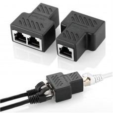 RJ45 Adapter Splitter Verteiler 8P8C Ethernet LAN Netzwerkkabel Kabel CAT5 CAT6