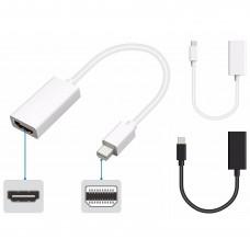 Adapter Mini DP DisplayPort Thunderbolt auf HDMI Konverter passend für Macbook, uvm.