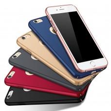Hülle Schutzhülle Case Cover für iPhone 5 SE 6 7 8 X mit Öffnung für Apple-Logo