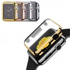 Schutzhülle Hülle Cover Case Apple Watch iWatch 38 / 40 / 42 / 44 mm Display Panzerglas