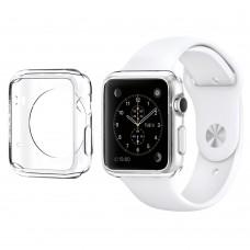 TPU Schutzhülle Hülle Cover Case Apple Watch iWatch 38/42 mm 40/44 mm transparent