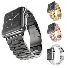 Armband, Edelstahl für Apple Watch iWatch 38 / 42 mm, Silber, Gold, Rosé-Gold, Schwarz