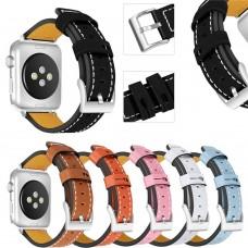 Leder-Armband, Echtleder für Apple Watch iWatch 38 / 42 mm, verschiedene Farben
